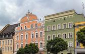 historische Häuser in Straubing, Deutschland