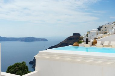 A lovely pool in Santorini, best views to Caldera