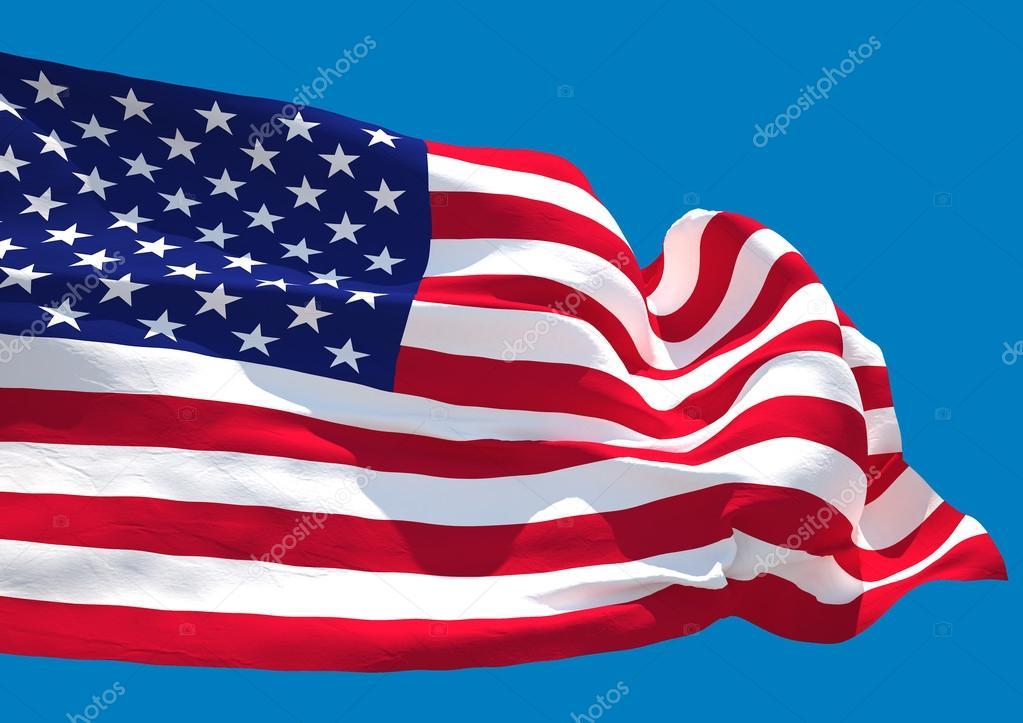 Onda De Los Eeuu Bandera Hd Estados Unidos America Fotos Stock