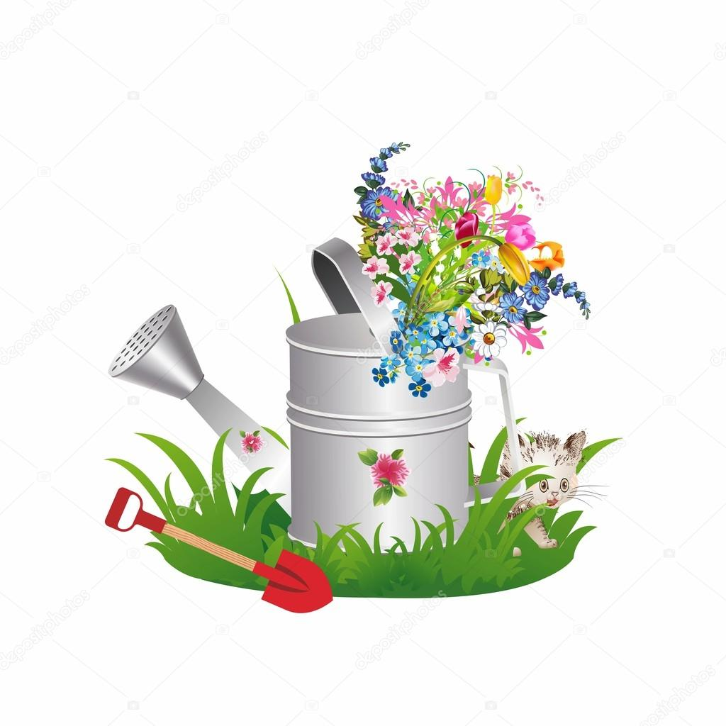 Spring in a watering can,