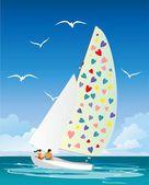 Fotografia su una barca a vela