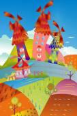Cheerful  village