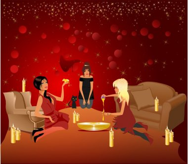 Evening divinations with the girls
