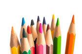 Detail barevné tužky, samostatný