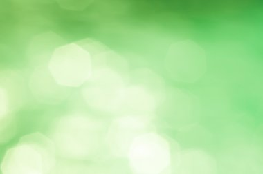 Green hexagonal bokeh
