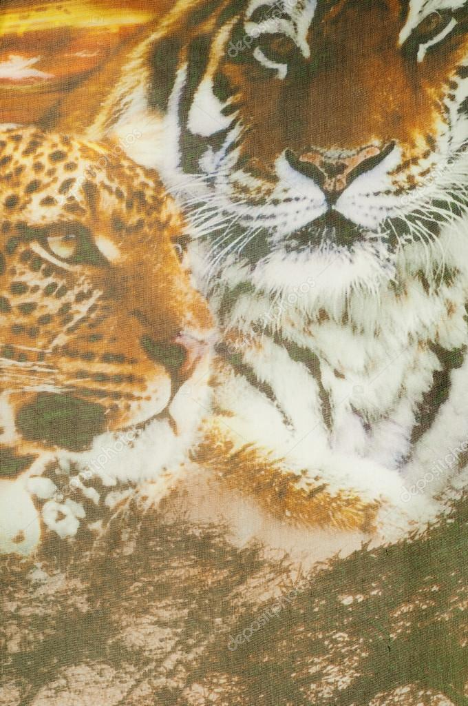 Fabric Silk Texture Patterned Animals Stock Photo © Ekina60 60 Magnificent Patterned Animals