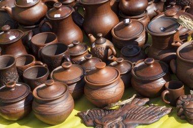 pottery, earthenware, clayware, crockery, stoneware