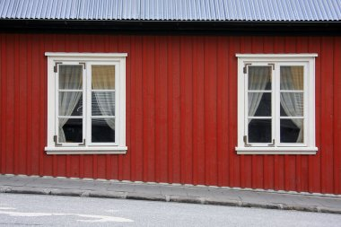 Red Icelandic house