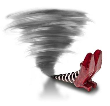 Tornado fallen on the Wicket Witch