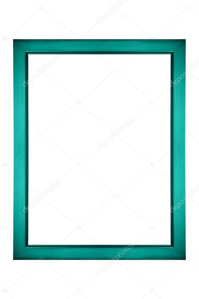 Verde azulado o turquesa cuadro marco — Fotos de Stock ...