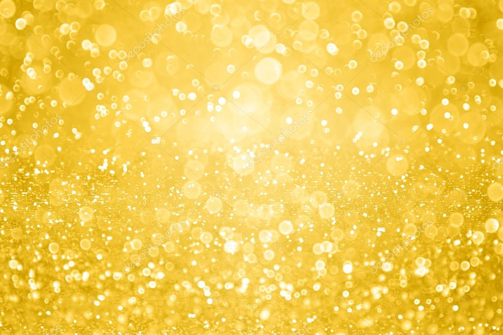 Gold Sparkle Glitter Background Party Invite Stock Photo