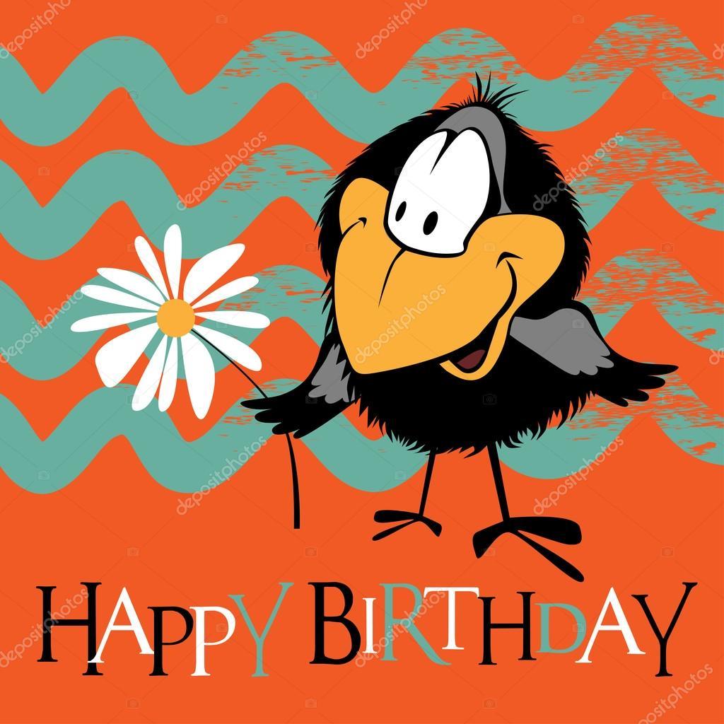 Gelukkige Verjaardag Vogels Glimlach Stockvector C Novkota1 107522104