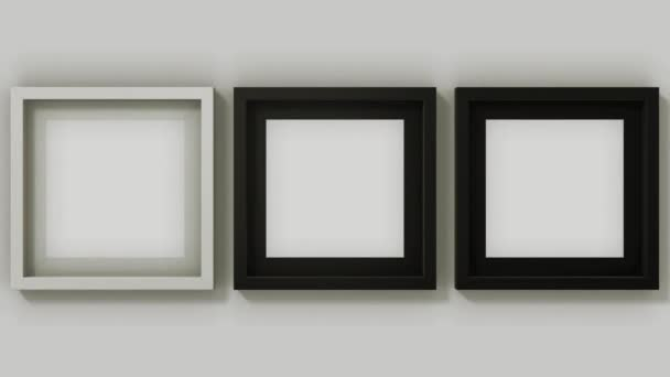 Three square shape photo frames in motion HD