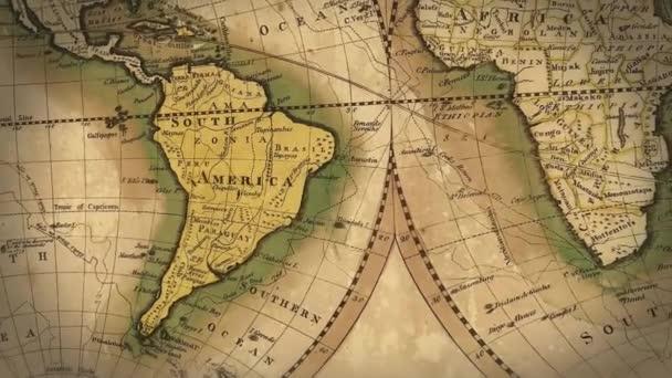 Mapa světa ve stylu ročníku
