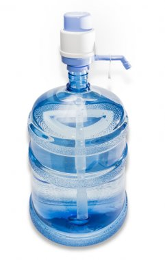 Carboy with drinking water and hand pump