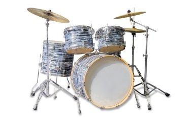 Drum kit on a light background