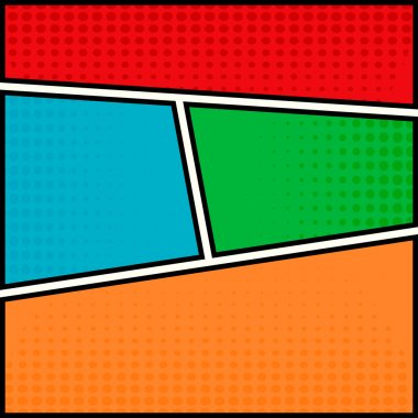 Comics pop-art style blank layout template
