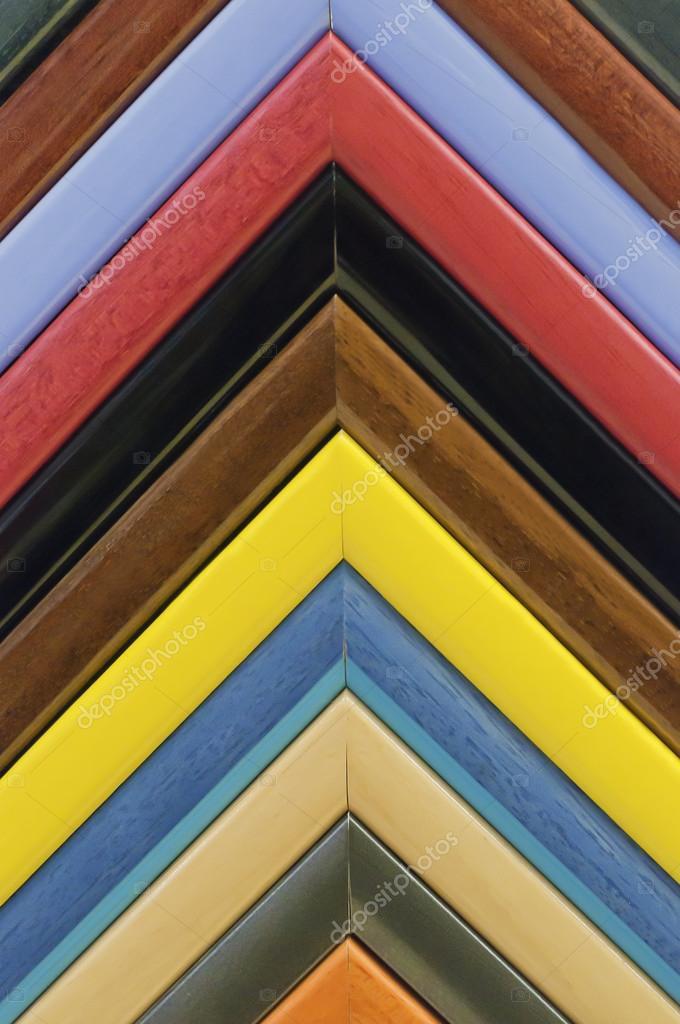 Colores marcos para fotos y cuadros en una fila — Fotos de Stock ...