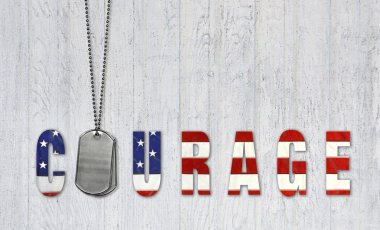 Dog tags for courage