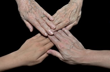 Family generations of hands