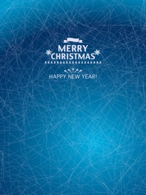 Christmas Background with icy blue pattern.