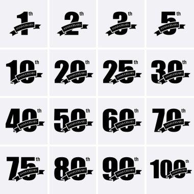 Anniversary Icons. Set