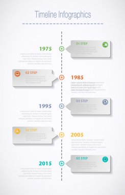 Timeline Infographic with speech bubble.