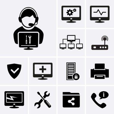 Computer technician icons.