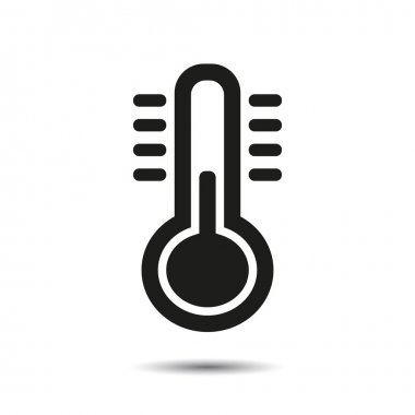 Thermometer icon. Vector for web clip art vector