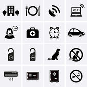 Fotografie Hotelservice und Ausstattung Icons. Satz 2