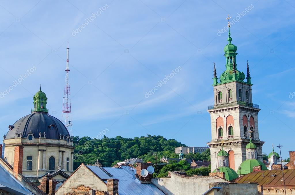View of Lviv roof
