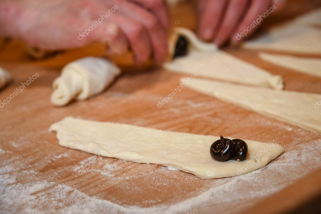 tarwe croissant maken — stockfoto © pproman #114085500