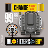 Photo Oil and Filters Change