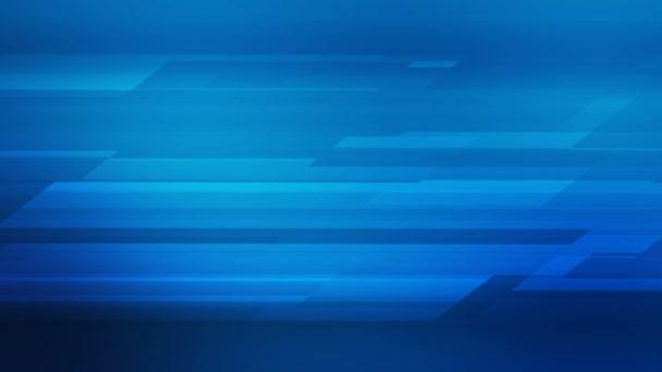 Leuchtend blaues abstraktes geometrisches High-Tech-Bewegungsdesign. Nahtloses Looping. Video animation Ultra HD 4K 3840x2160