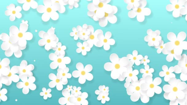 Growing floral background, paper flowers appearing, botanical pattern, bridal round bouquet, paper craft, 4k animation