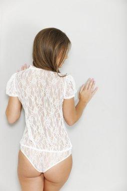 Woman in one piece underwear
