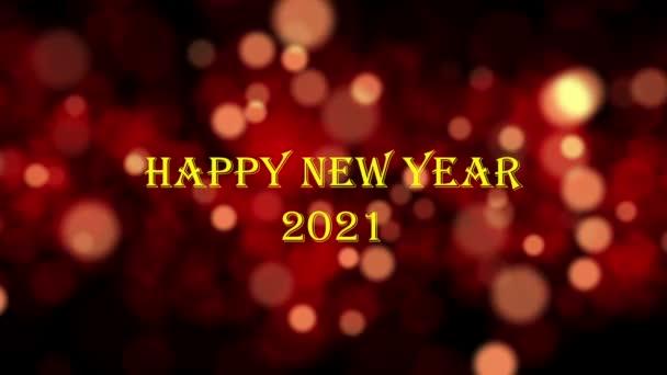Boldog új évet 2021 bokeh minta, ünneplés koncepció