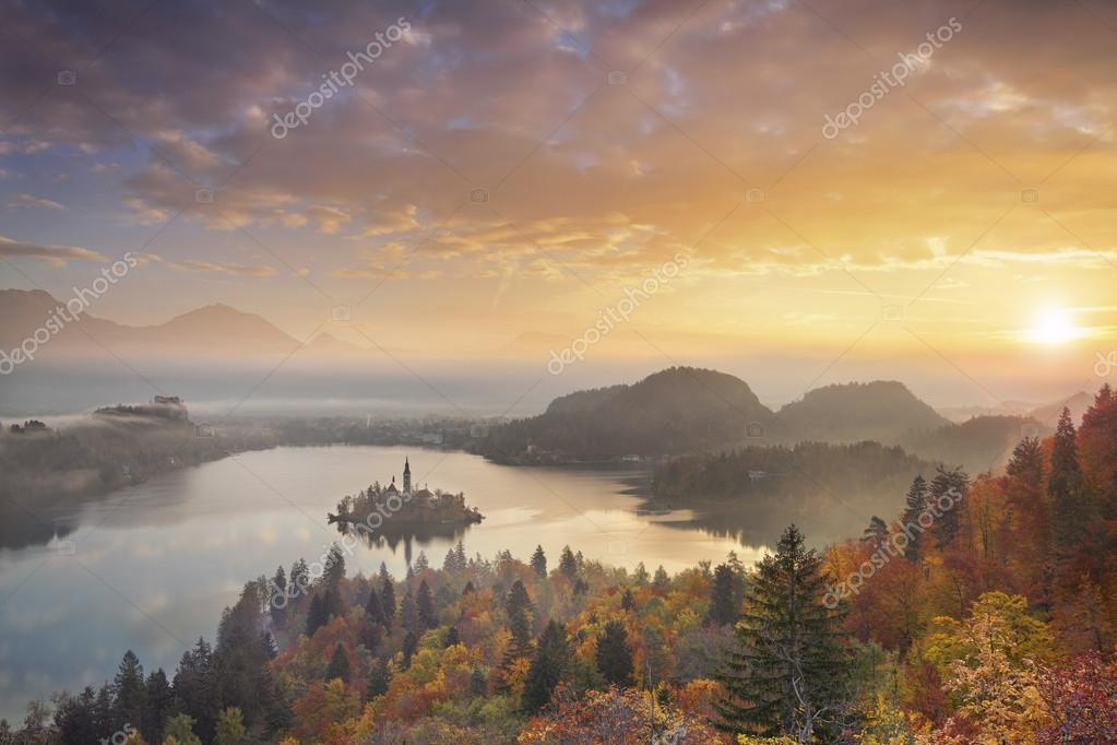 Autumn Lake Bled.