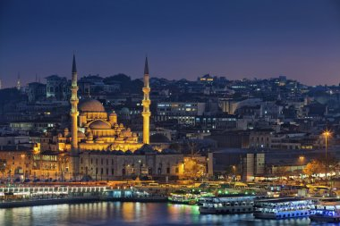 Istanbul at night.