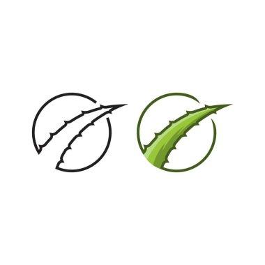 Aloe vera. vector logo icon template icon