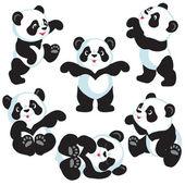 Photo Set with cartoon panda