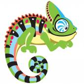 Photo cartoon chameleon