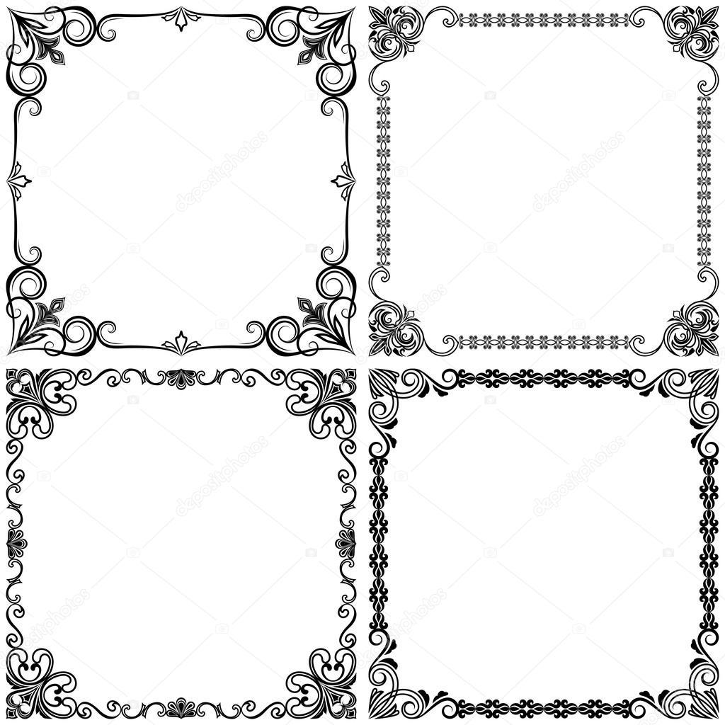 Cornici Disegno Bianco E Nero.Disegni Bianco E Nero Disegno Di Cornici Di Vettore Dell