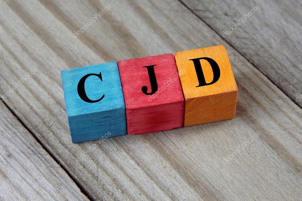 Acronyme de MCJ (maladie de Creutzfeldt - Jakob) sur des cubes en ...