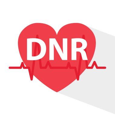 DNR (Do Not Resuscitate) medical concept- vector illustration icon
