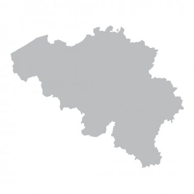 Grey map of Belgium