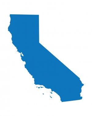 Blue map of California