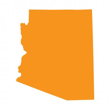 Orange map of Arizona