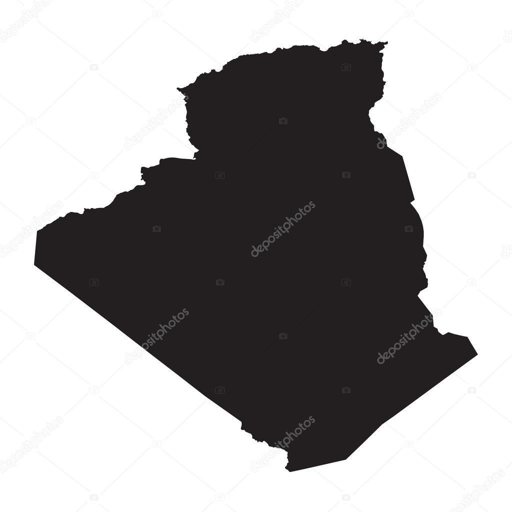 Carte Algeria Vector.Black Map Of Algeria Stock Vector C Chrupka 64082241