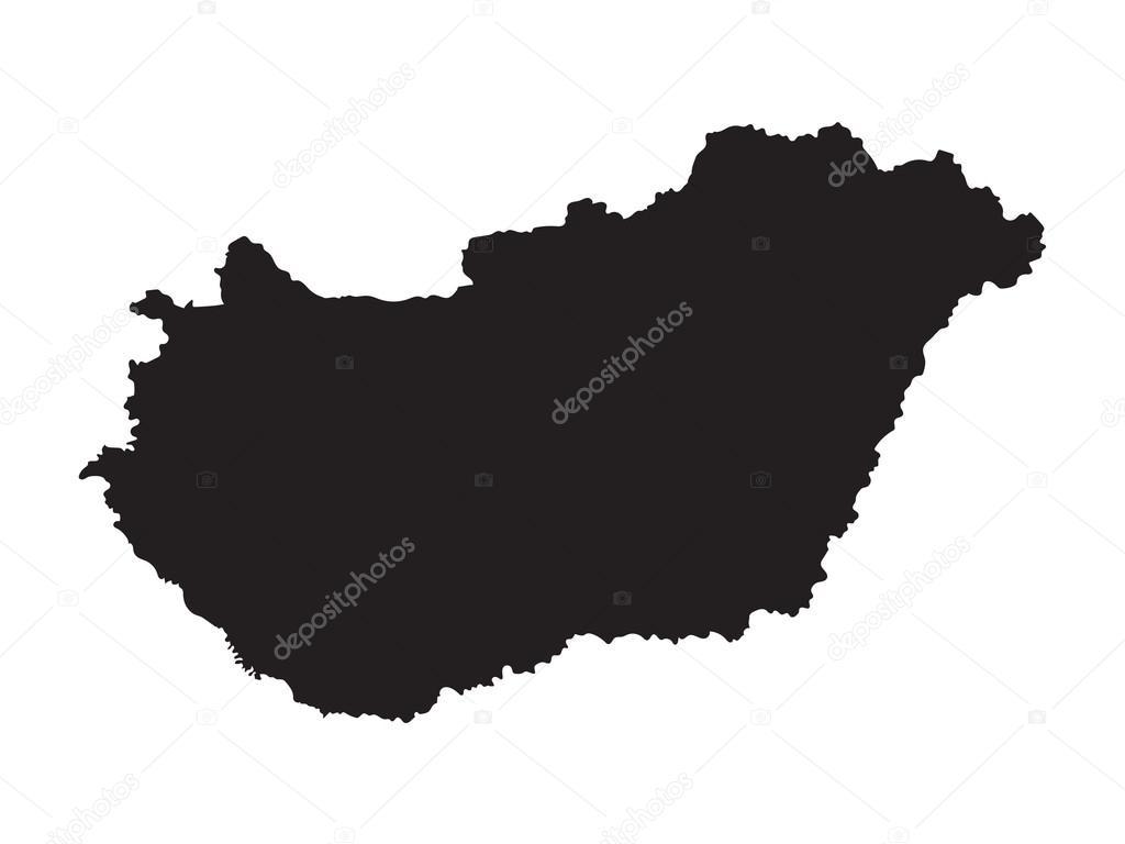 magyarország térkép vektor Fekete Térkép Magyarország — Stock Vektor © chrupka #64799889 magyarország térkép vektor